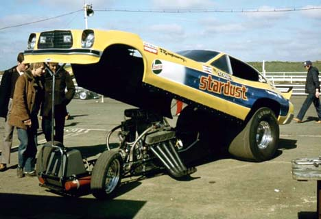 The Stones Second Funny Car Replaced Cuda But Stardust Name Remained They Bought This From Roy Phelps As Well It Was 1976 Mustang Ii Of