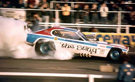 Liam Churchill Of Great Britain Had The First Funny Car Named Sting Predating Larry Coogle S Version Debuted His Ford Capri With Chrysler